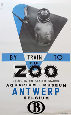 Studio Peso - 'By train to the Zoo Antwerp Belgium' - circa 1950