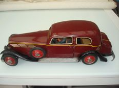 "Paya, Spain - Length 50 cm - original tin ""Horch Saloon Car"" with clockwork motor and lighting, 1930s/40s"