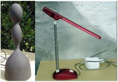 "Pair of table lamps - ""Virgo"" by Ilaria Gibertini for Nemo & Cassina + Microlight by Ernesto Gismondi for Artmide"
