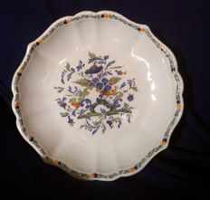 Antonibon, Nove of Bassano - Chinese inspired Plate With Outlined Edge - Second half XVIII century