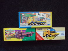 Corgi - Scale 1/50 - Lot with 3 models: 3 x 8 Wheel trucks - Atkinson, Leyland and ERF