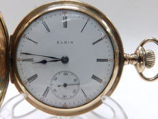 Elgin National Watch Company. Reloj de bolsillo, saboneta y remontoir. Ca. 1909