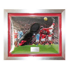 Wayne Rooney Man Utd Signed Black Nike Boot Framed - Manchester United