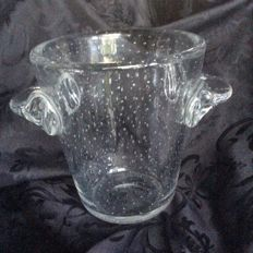 Schneider (France) - large bubble crystal champagne bucket