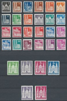 Allied occupation American/British zone 1948 - Buildings - Michel 73/100 I, 98 II, 99 II