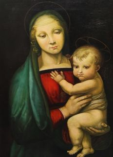 Unknown School, after Raphael (19th/20th century) -  Madonna met kind