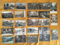 Italy - Rome Venice Genoa, Naples - 1910 to 1930 - 77 postcards - Scenes of life and urban landscapes