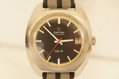 Big Certina DS 2  AUTOMATIC - Turtleback men's watch, 1970s