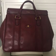 Pierre Cardin – Large leather travel bag / weekend bag