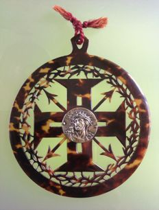Cross from the order of Christ, in turtle scale - Portugal - 18th century
