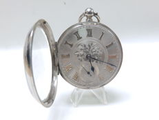 Verge pocket watch for men. Chester, 1890.
