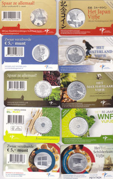The Netherlands – 5 Euro  2008/2013 (18 pieces) in coin cards