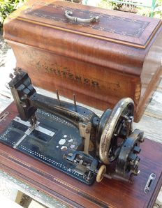 Very old but decorative Gritzner Durlag hand sewing machine, 1895