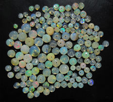 Lot of natural Welo opals - beads of 2 to 6mm - 46 cts (158)