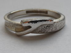 "Lapponia – ""Twig"" design by Christophe Burger – Silver 925/1000 ring, Weight: 3 g,  Size: 18, Width: 2 mm"