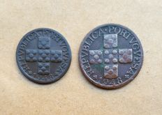 "Portuguese Republic – ""Pair"" of X and XX Centavo coins 1948 – RARE"