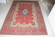 Vintage Persian carpet Tabriz/Iran 20th century approx. 1950s, used, approx. 375 x 270 cm