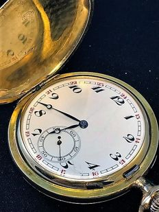 Pocket watch – triple casing – 18 kt gold – early 20th Century