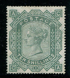 Great Britain 1867/1883 – Queen Victoria – 10 shilling grey-green Stanley Gibbons 128