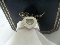 "Chopard - ""Happy Diamonds"" Ladies Ring in 18 kt white gold and diamond - Ring size M"