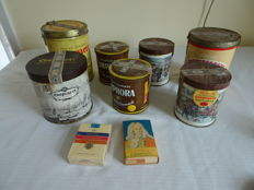 Lots of 7 cans pipe tobacco, 1 pack cigarettes and in original packaging.