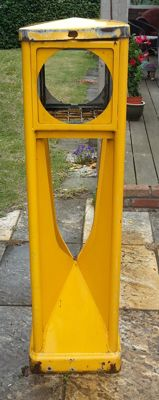 Original yellow Agmi Traffic pillar - RVV 1966 - 115 x 31 x 31 cm