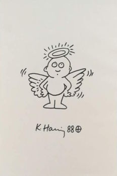 Keith Haring - Angel Baby Face