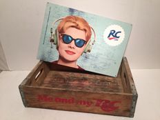 RC Royal Crown - Heavy steel sign - 2010 USA + Original wooden crates RC