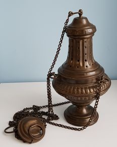 Old copper censer