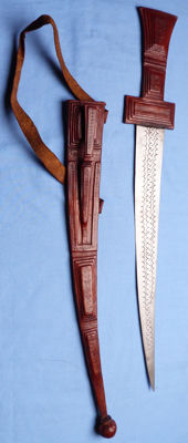 North African Short Sword and Scabbard