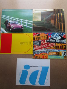 Citroen - Lot of 5 original catalogues for ID and DS models