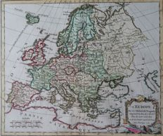 Europe; G. Robert de Vaugondy – l´Europe … - 1762