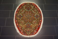 High-quality Persian carpet – Kerman  Lawer – made in Iran – 100 x 130 cm – very good condition