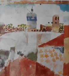 Paul Klee (after) - Hammamet and his Mosquee & Moonrise