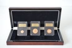 Gibraltar - ¼, ½ en 1 Sovereign 2015 'Remembrance Day' (3 munten) in set - goud