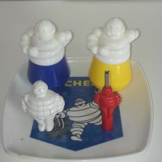 Lot of various Michelin Bibendum items from around the late 1960s until the late 1990s