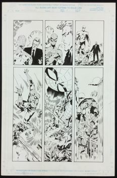 Keith Giffen - Marvel Comics - Webspinners : Tales of Spider-man # 5 Original Plate-Page 4 (1999)