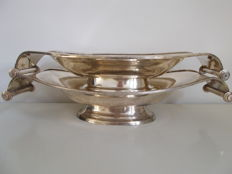 2 Art Deco silver plated serving trays, France, the 50's