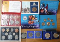 United Kingdom and commonwealth - several coin sets 1965/2003 (8 items)