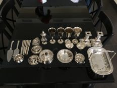 Silver plate service, made in England