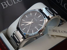 Bulova Black Face - Men's watch - Stainless steel case and bracelet