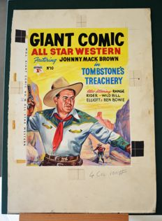 Original cover of Walt Howarth's WDL Giant Comic : All Star Western no. 10