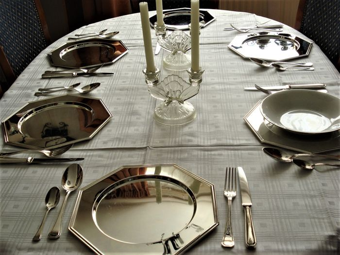 6 person silver plated Dinner set - from approx. the 60s/70s, France