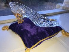 Franklin Mint - Cinderella glass slipper - Crystal and gold-plated
