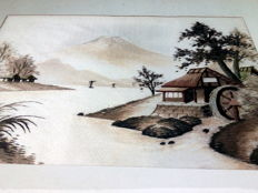 Framed Silk Embroidery - Japan - second half 20th century