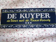 Glass advertising sign De Kuyper - Mid 20th century