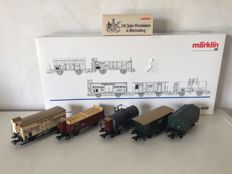 Märklin H0 - 4510 - 5-piece freight carriage set 'Württemberg' of the K.W.St.E.