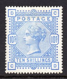 Great Britain 1883/1884 - Queen Victoria, 10 Shilling Ultramarine Mint Hinged- Stanley Gibbons 183