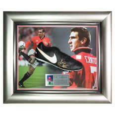 Signed Eric Cantona Nike Tiempo Football Boot - Man Utd