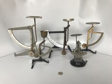 Five letter scales from approx.1900 to 1970